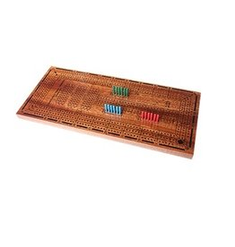 Wooden 3 Track Cribbage Board