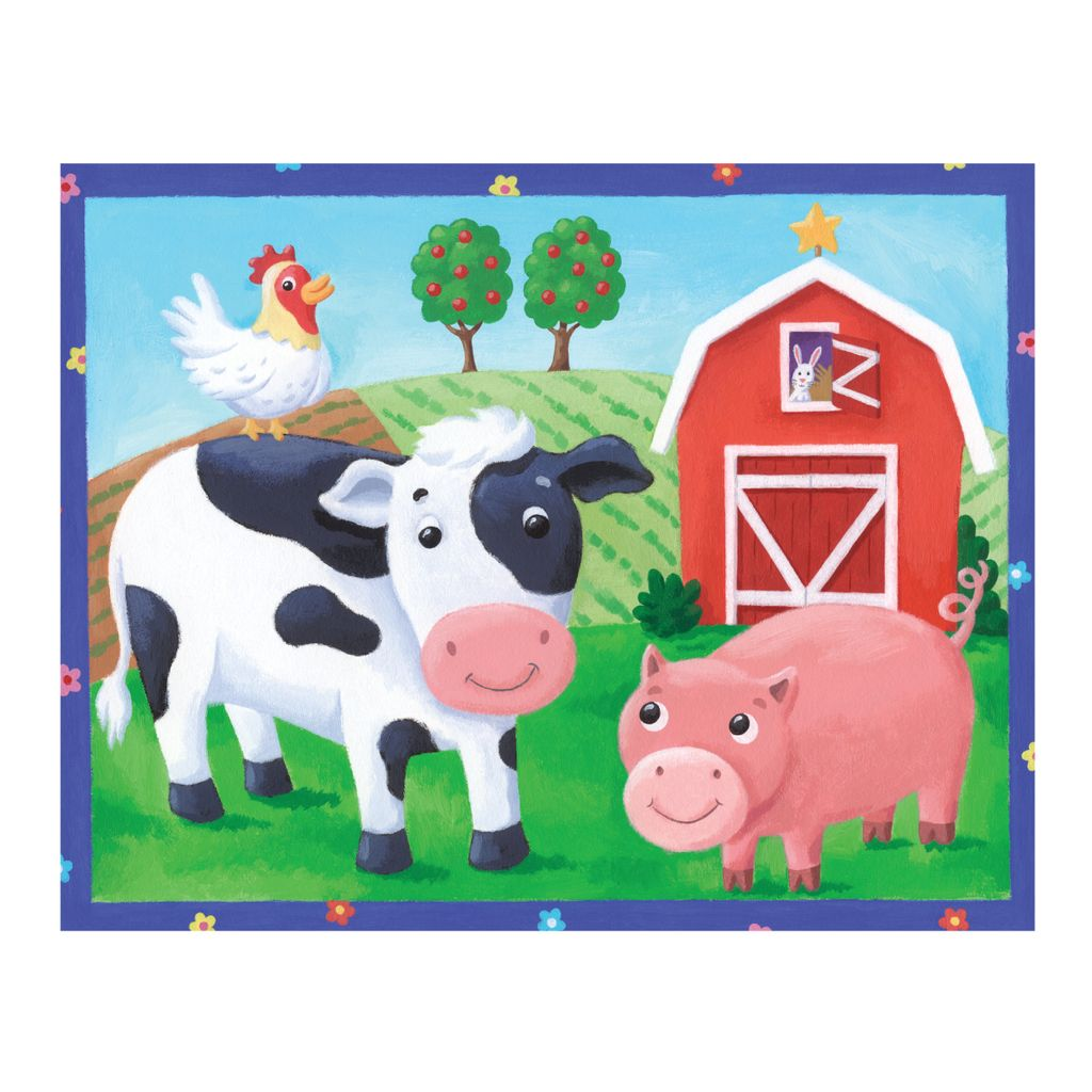 On The Farm 12pc Pouch Puzzle
