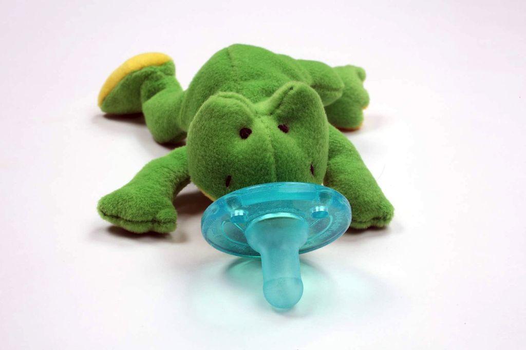 WubbaNub Pacifier Classic Green Frog