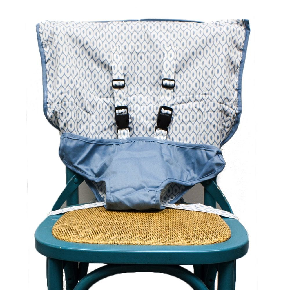 Mint Marshmallow Travel Seat : Steel Blue