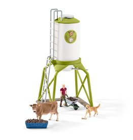 Schleich Feed Silo with Animals
