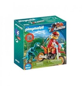 Playmobil - Motocross Bike with Raptor