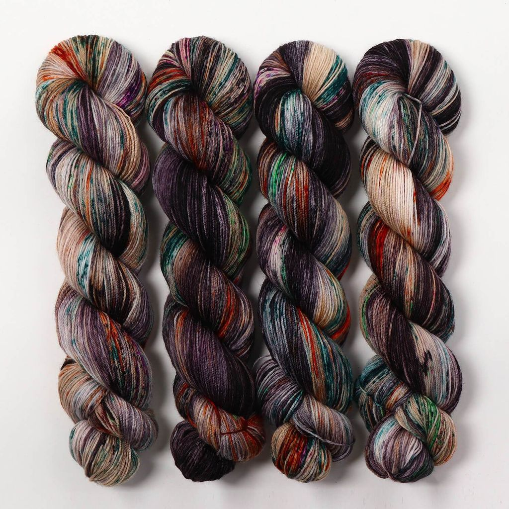 Hedgehog Fibres Hand Dyed Yarns Skinny Singles, Hawk