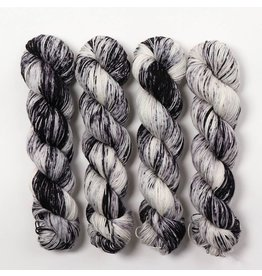 Hedgehog Fibres Hand Dyed Yarns Skinny Singles, Magpie