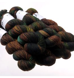 Hedgehog Fibres Hand Dyed Yarns Skinny Singles, Nutmeg