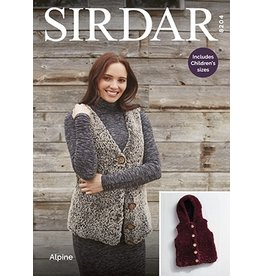 Sirdar Gilets in Alpine