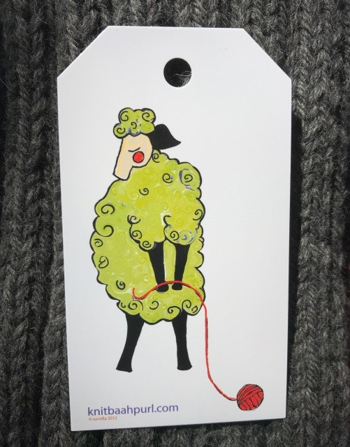 Knit Baah Purl Gift Tag - Pack of 10, Flirty Sheep