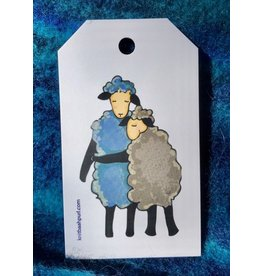 Knit Baah Purl Gift Tag - Pack of 10, Sheep-y Hug