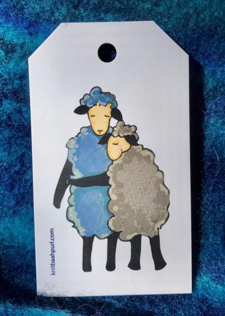 Knit Baah Purl Gift Tag - Pack of 10, Sheep-y Hug