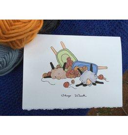 Knit Baah Purl Single Card, Sheep Wreck