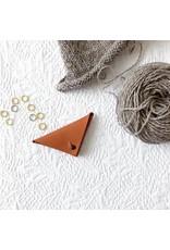 Leather Stitch Marker Pouch, Sienna