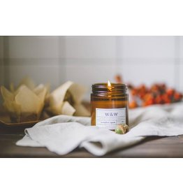 Pure Soy Wax Candle: Pumpkin Spice in Amber Jar
