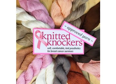 Knitted Knockers Approved Yarns