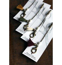 Tassled Scissor Chain, Ivory