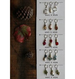 Fall Stitch Markers, Olive