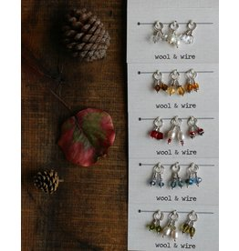 Fall Stitch Markers - Mini, Cranberry