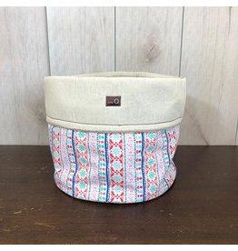 della Q Salina Fabric Yarn Bowl, Large, Menlo
