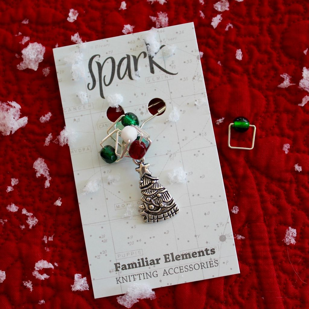 Square Stitch Markers, Christmas Tree