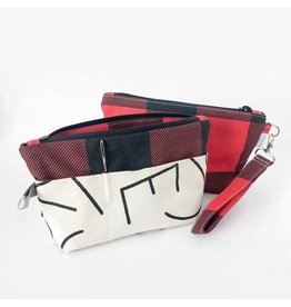 Binkwaffle Notions Clutch, Buffalo Plaid