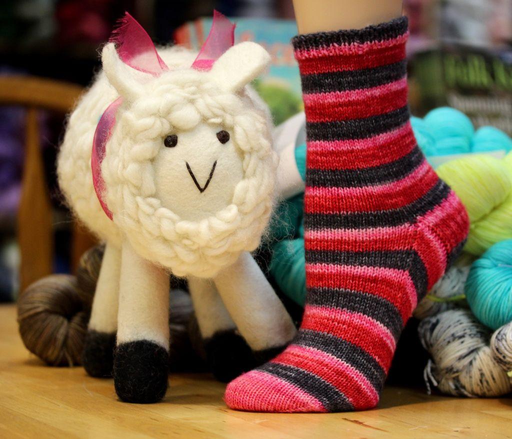 For Yarn&#039;s Sake, LLC Cuff Down Socks. Saturdays February 2, 9 &amp; 23, 2019. Class time: 1-3pm.<br /> Anne Lindquist