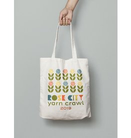 For Yarn's Sake, LLC 2019 Rose City Yarn Crawl Commemorative Tote Bag *Pre-Order*