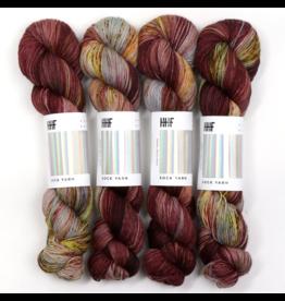 Hedgehog Fibres Hand Dyed Yarns Skinny Singles, Plume