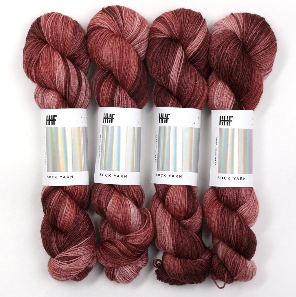 Hedgehog Fibres Hand Dyed Yarns Skinny Singles, Rosewood