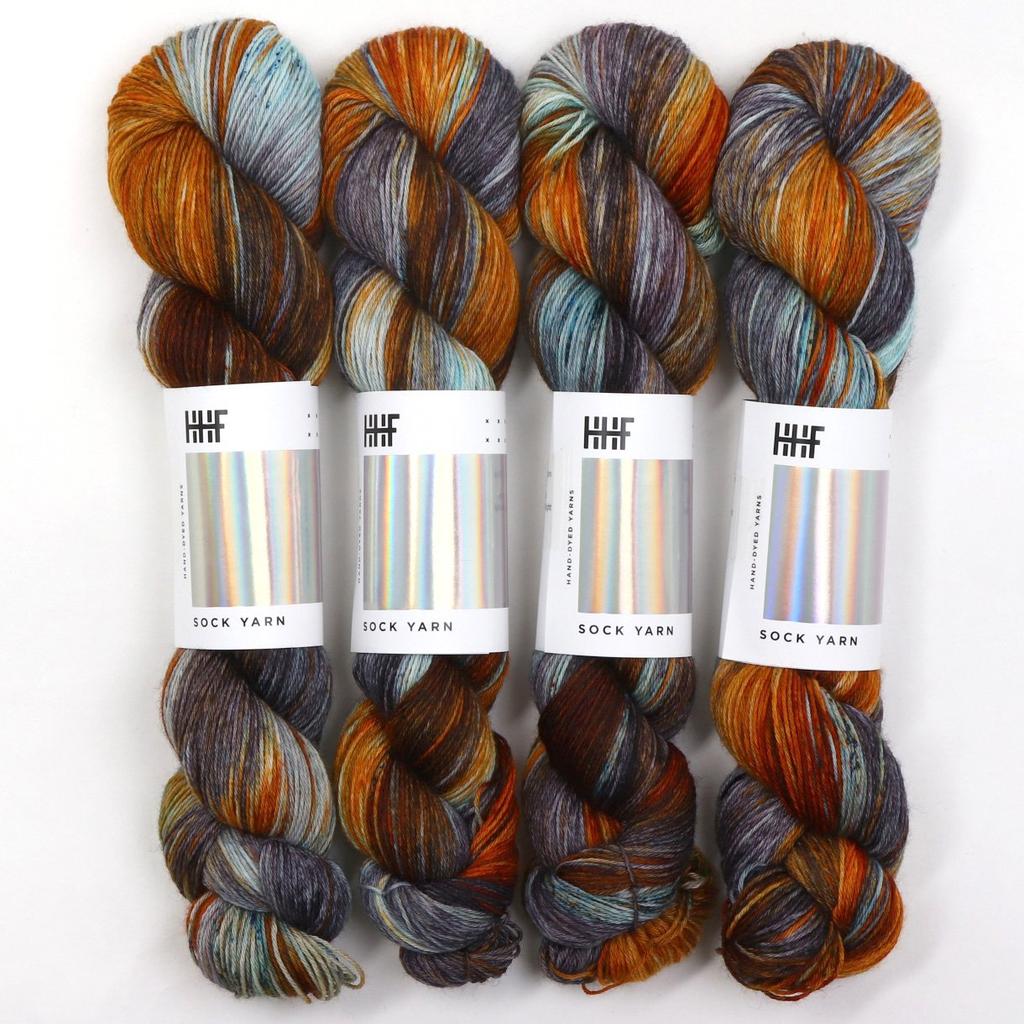 Hedgehog Fibres Hand Dyed Yarns Sock Yarn, Brigid