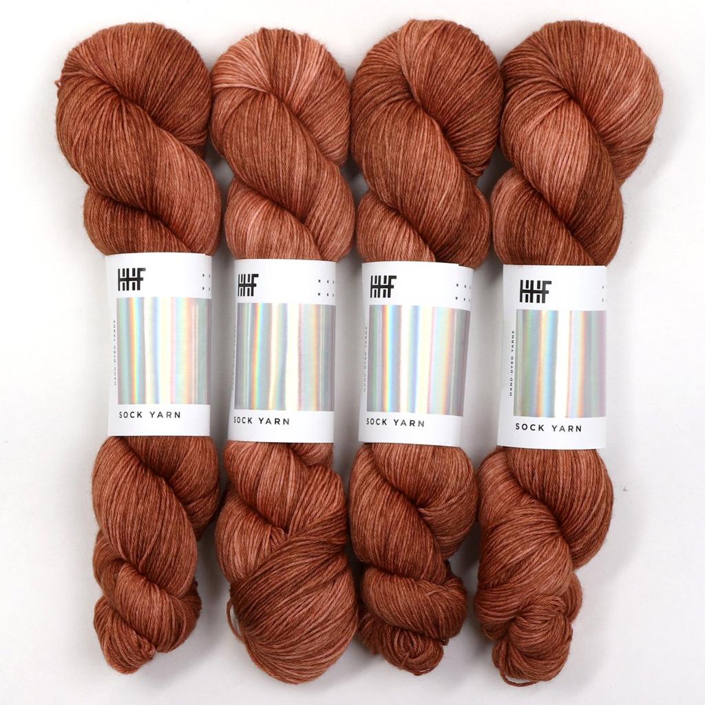 Hedgehog Fibres Hand Dyed Yarns Sock Yarn, Clay