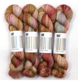 Hedgehog Fibres Hand Dyed Yarns Sock Yarn, Dune