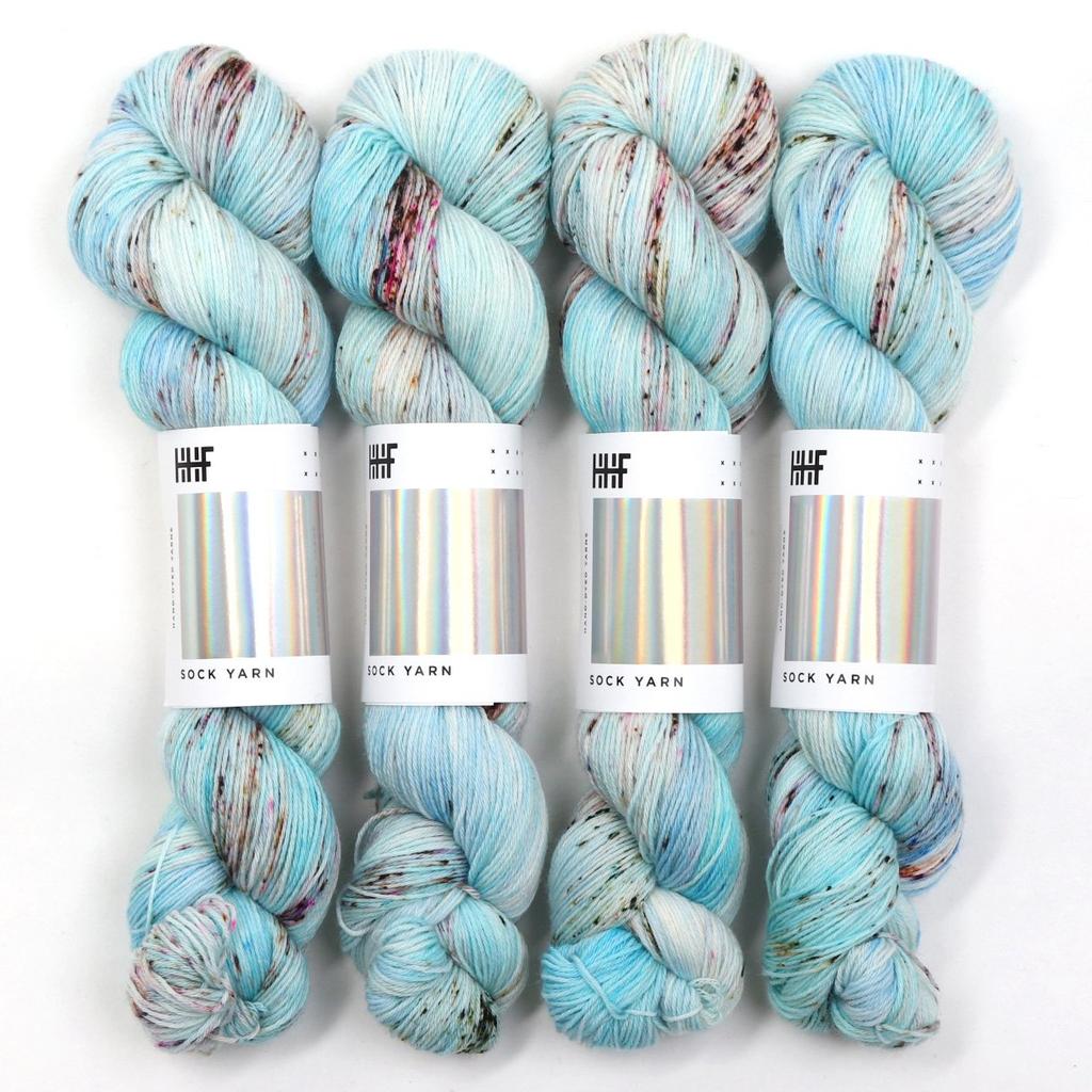 Hedgehog Fibres Hand Dyed Yarns Sock Yarn, Ozone