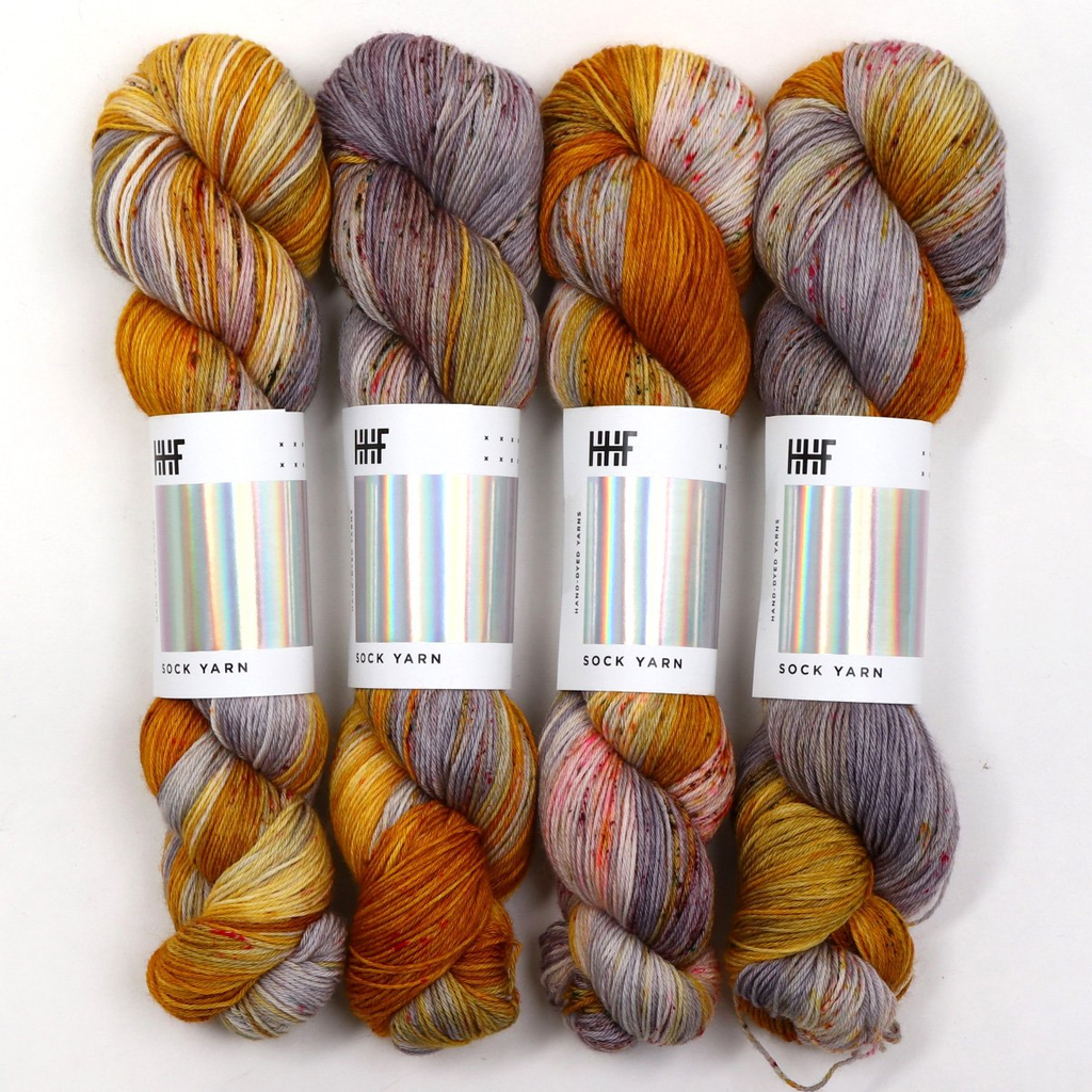 Hedgehog Fibres Hand Dyed Yarns Sock Yarn, Zenith