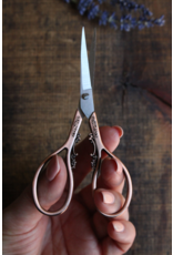 Floral Teardrop Scissors in Copper