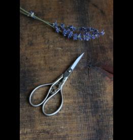 Floral Teardrop Scissors in Silver