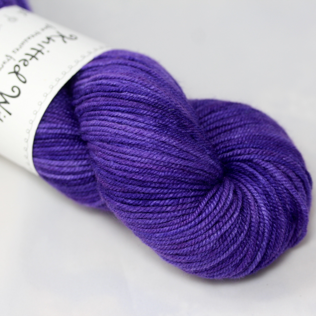 Knitted Wit Targhee Shimmer Worsted, Tanzanite (Discontinued)