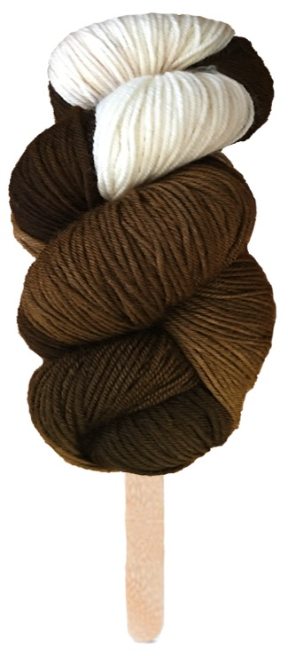 Delicious Yarns Swirl Fingering, Chocolate *CLEARANCE*