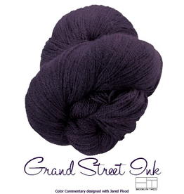 Lornas Laces Shepherd Worsted, Brooklyn Tweed Grand Street Ink *CLEARANCE*