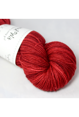 Knitted Wit Targhee Shimmer Worsted, Red (Discontinued)
