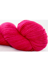 Knitted Wit Targhee Shimmer Worsted, Liberally Bleeding Heart (Discontinued)