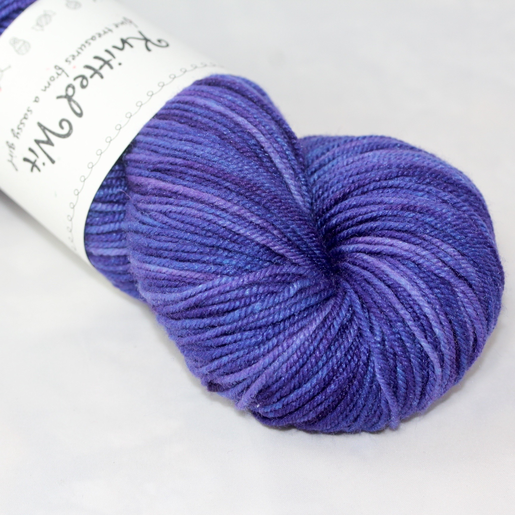 Knitted Wit Targhee Shimmer Worsted, Honey Lavender (Discontinued)
