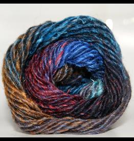 Noro Silk Garden, Blue, Lime, Brown, Black color 377 (Discontinued)