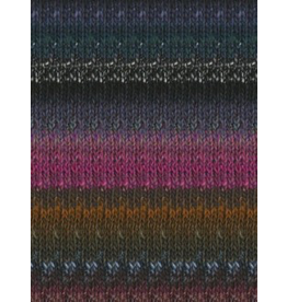 Noro Silk Garden, Black, Grey, Violet, Green color 412 (Discontinued)