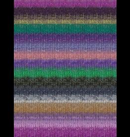Noro Silk Garden Sock, Purple, Grey, Green Color 420 (Discontinued)