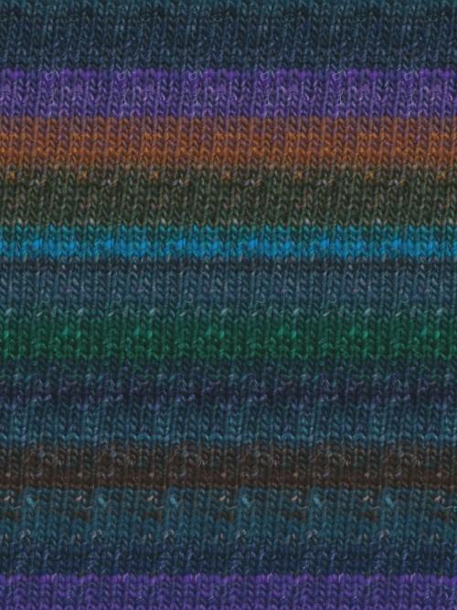 Noro Silk Garden Sock, Blue, Green, Black, Brown color 369 (Discontinued)
