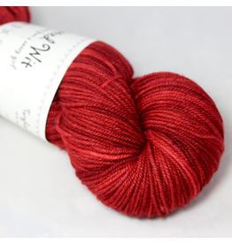 Knitted Wit Targhee Shimmer Worsted, Paprika (Discontinued)