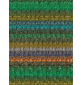 Noro Silk Garden Sock, Greens, Coral, Ink Color 426 (Discontinued)