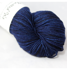 Knitted Wit Targhee Shimmer Worsted, Prussian Blue (Discontinued)