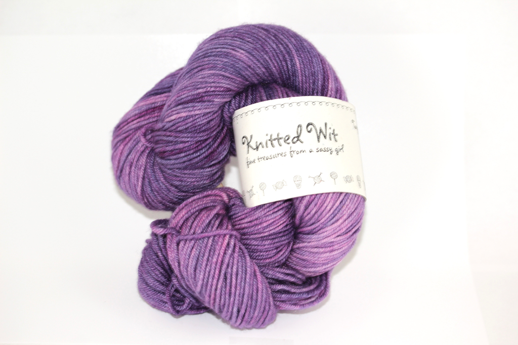 Knitted Wit Targhee Shimmer Worsted, Italian Plum (Discontinued)