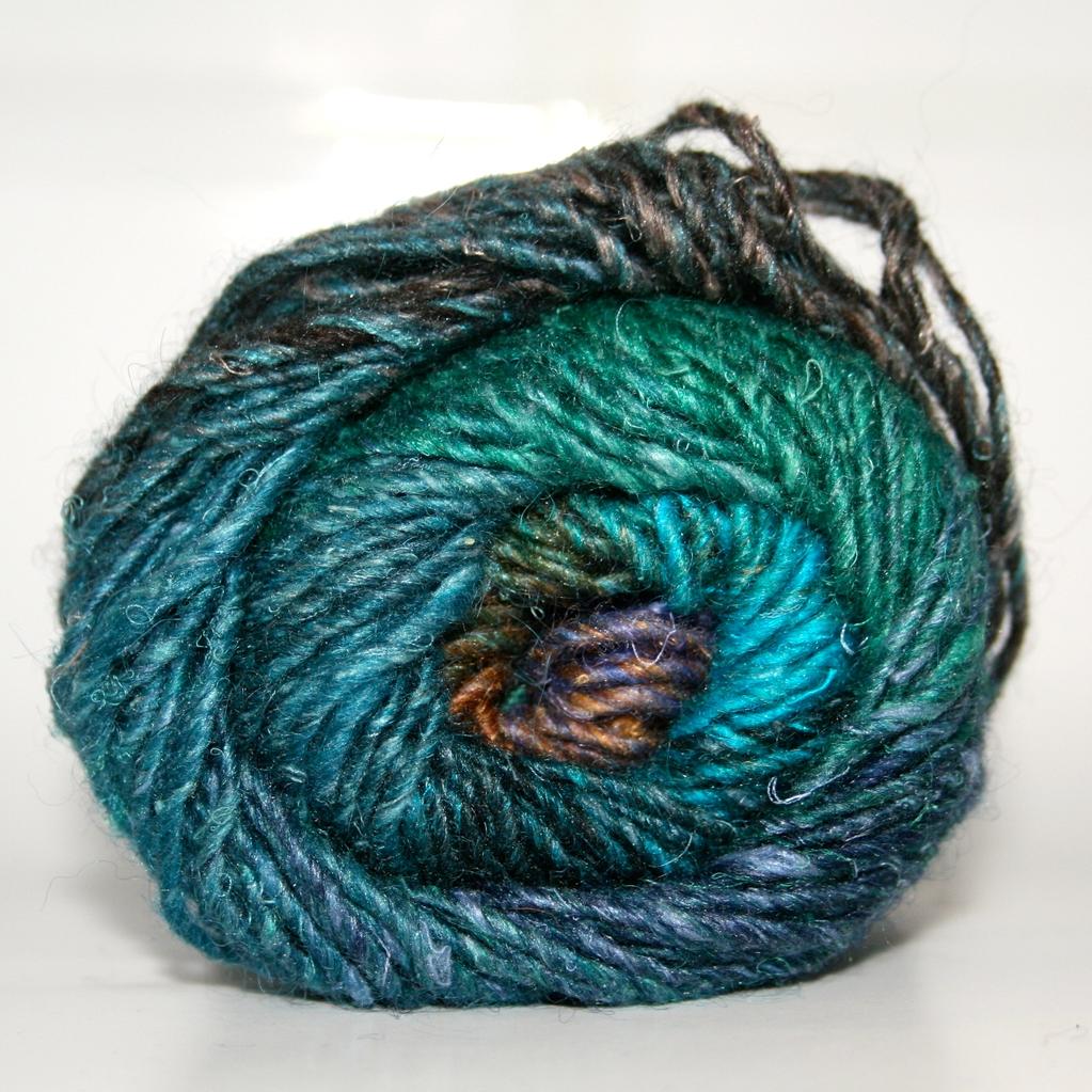 Noro Silk Garden, Blue, Green, Black, Brown color 369 (Discontinued)
