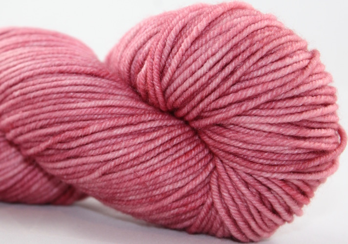 Knitted Wit Targhee Shimmer Worsted, Dusty Rose (Discontinued)